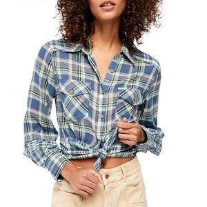 First Bloom Plaid Top